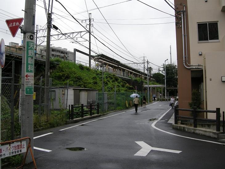 日野駅北西煉瓦橋側(カラー)2009-07-02