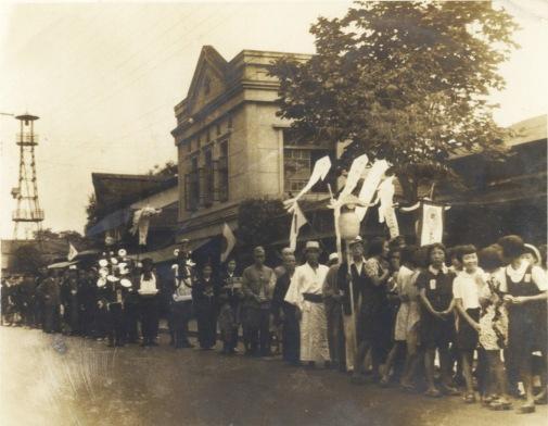 馬場謹治氏町葬 1942(2)葬列