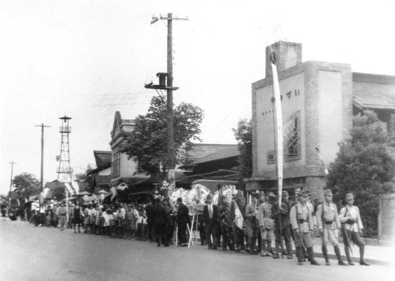 馬場謹治氏町葬 1942