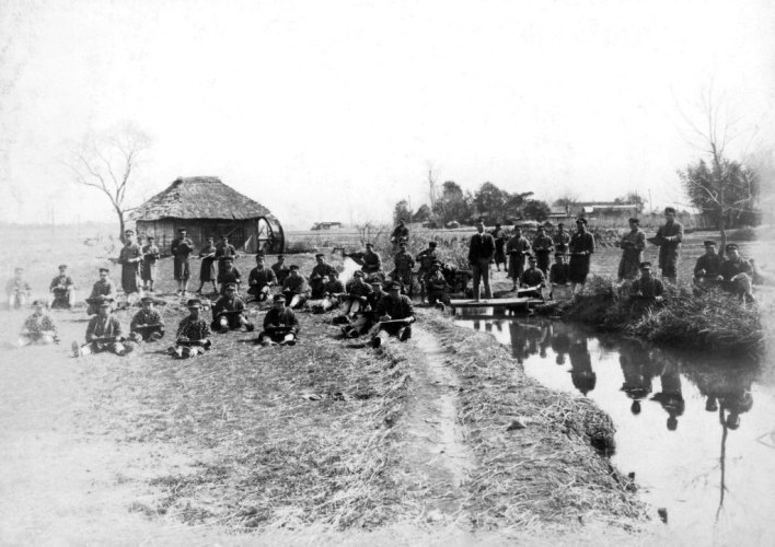 日野尋常高等小学校卒業記念写真 1929(10)男子写生会