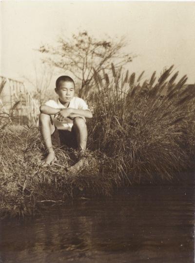 山下堀 ‐ 日野小学校校庭前付近 1951
