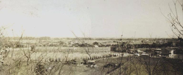 大昌寺山から日野小方面 1952頃