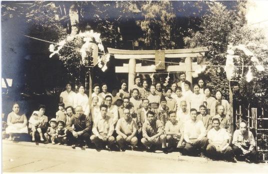 飯綱権現社 階段改修記念 1963