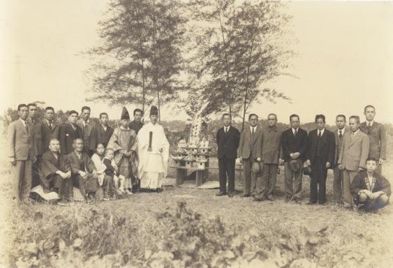 移住地の地鎮祭 1940