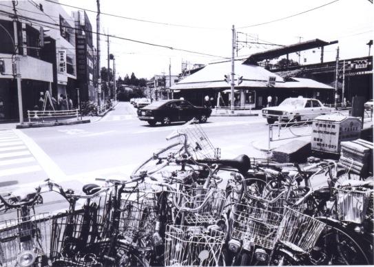 日野駅前 1978 ‐ 放置自転車
