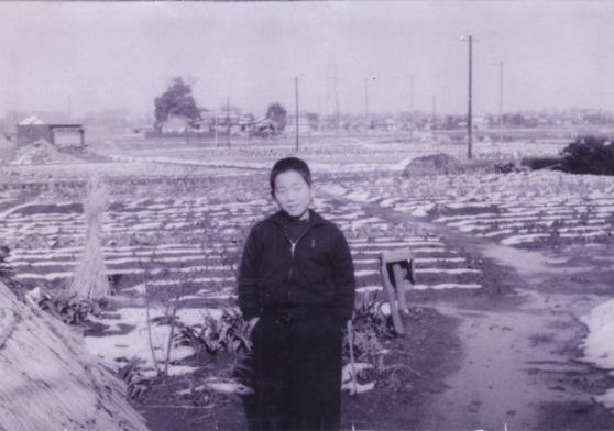 田んぼに立つ少年 1959