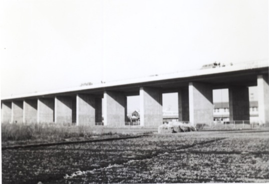 中央自動車道建設中 1967
