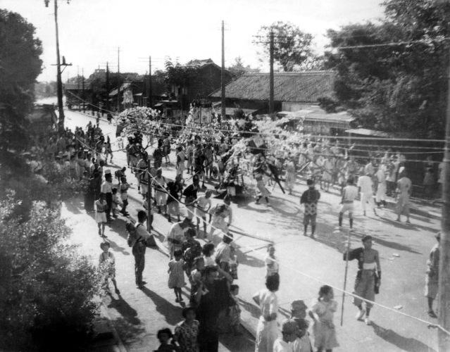 八坂神社の祭り 昭和20年代初頭 - ささら流し