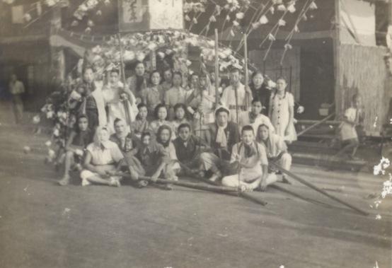 八坂神社の祭り - ささら流し - 仲町 昭和20年代初頭