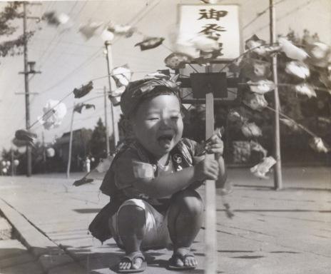 八坂神社の祭り ‐ 子ども 昭和20年代中頃