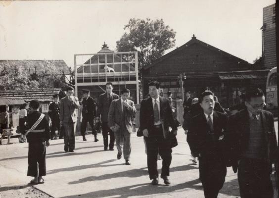 日野駅前 - 甲州街道 - 高木宅 昭和20年代後期
