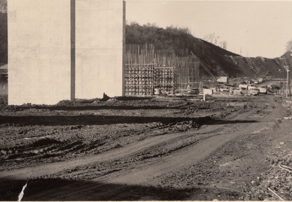 中央自動車道建設中(3)昭和40年代初頭