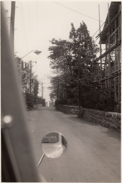 旧岩澤泰宏宅前道路 1963頃