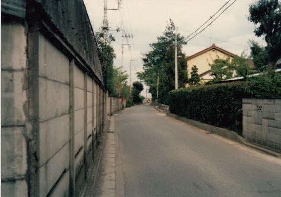 旧岩澤泰宏宅前道路 1968頃(6)