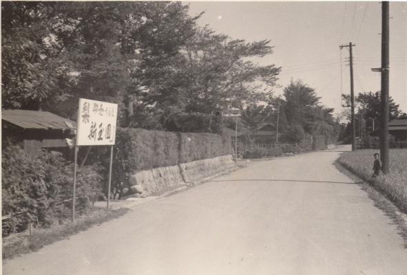 新玉園前の道路 ‐ 第一日野万 昭和30年代か