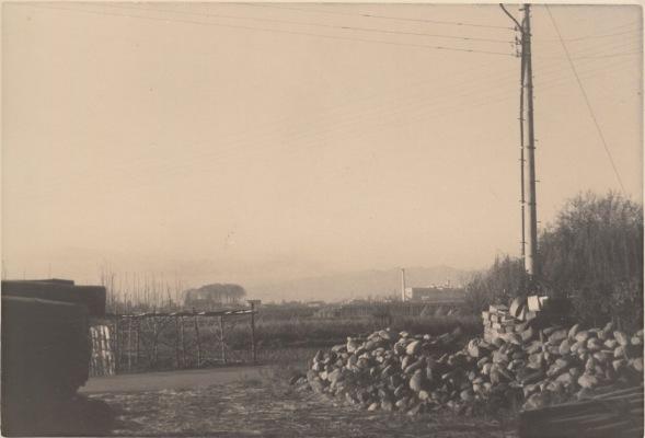 旧土方尚功宅からオリエント時計方向を望む 昭和30年代