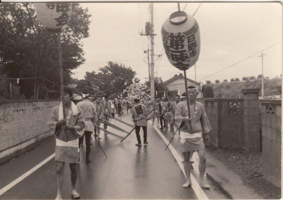ささら流し ‐ 高張り提灯 ‐ 第一睦会 昭和40年代初頭