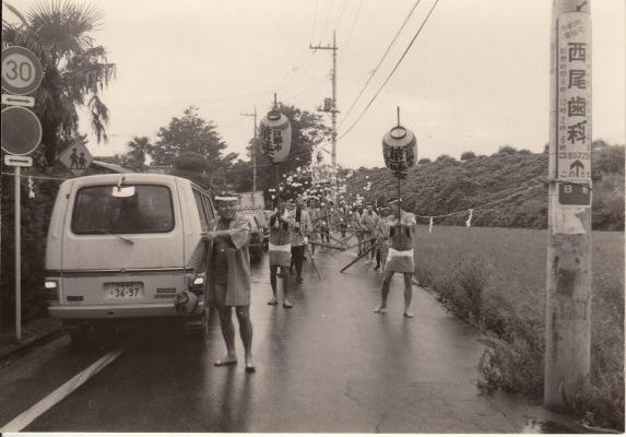 ささら流し ‐ 高張り提灯(2)第一睦会 昭和40年代初頭