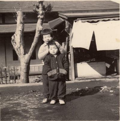 吉野屋(安西家屋号)前 - 横町 - 昭和30年代
