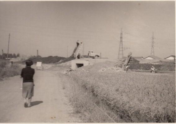 中央自動車道工事中 昭和30年代後半