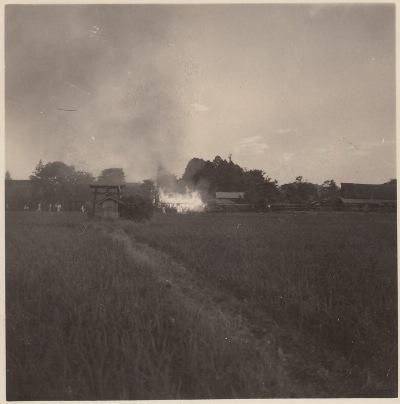 内入地区の火事 昭和20年代中頃