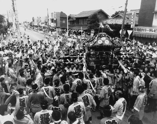 八坂神社の祭り 1976 - 宮神輿渡御 - 仲町