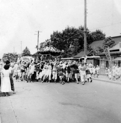 八坂神社の祭り - 宮神輿 - 仲町 昭和20年代後半