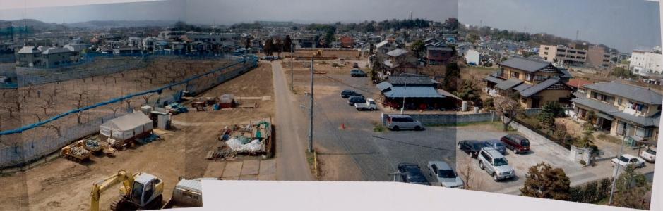 上田の旧火の見櫓付近から西方面の眺め 2000年初頭