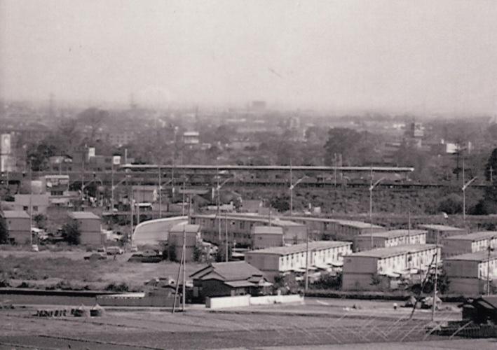 日野台地より日野駅方面を望む 1970