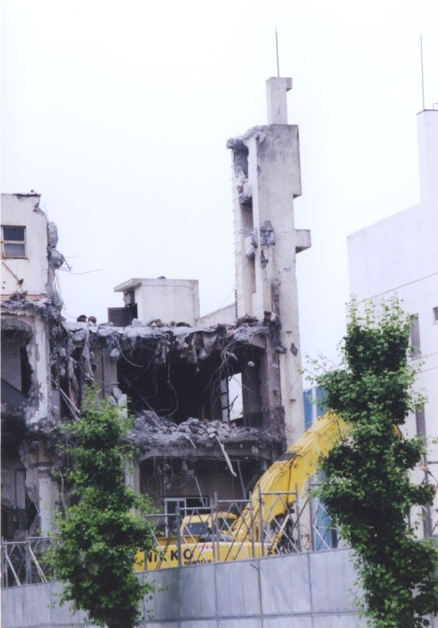 オリエント工場時計台取り壊し 2001