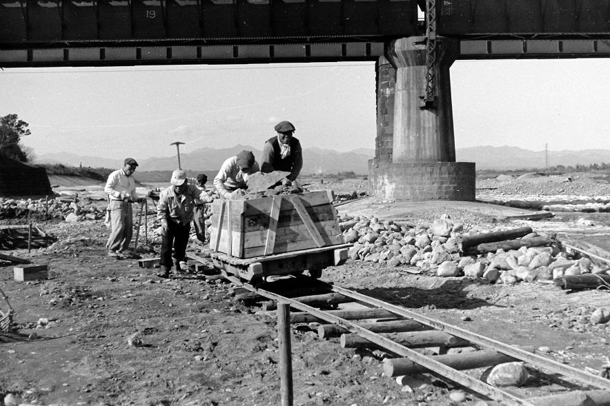 堤防修復工事 1955頃