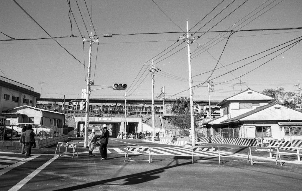 土地区画整理事業-日野駅東側河野家付近 1981