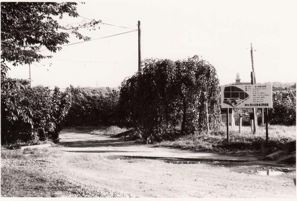 蚕糸試験場日野桑園(12)案内板 1970年代後半