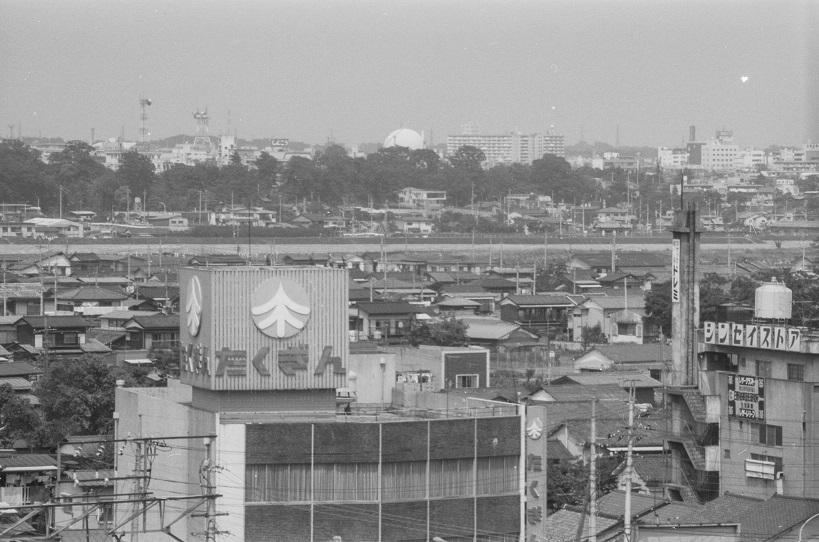 大坂上の高台から立川方面を望む 1977-05-08