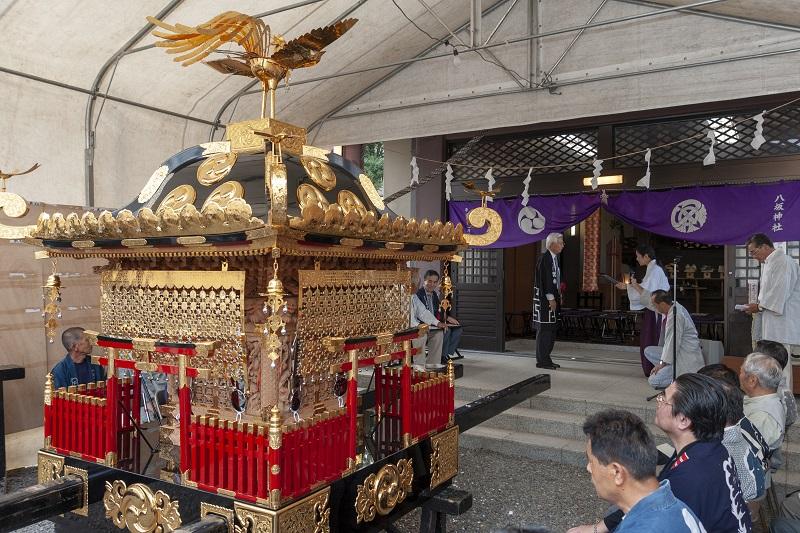 細部までの総修理がなされた宮神輿 2010-09-07