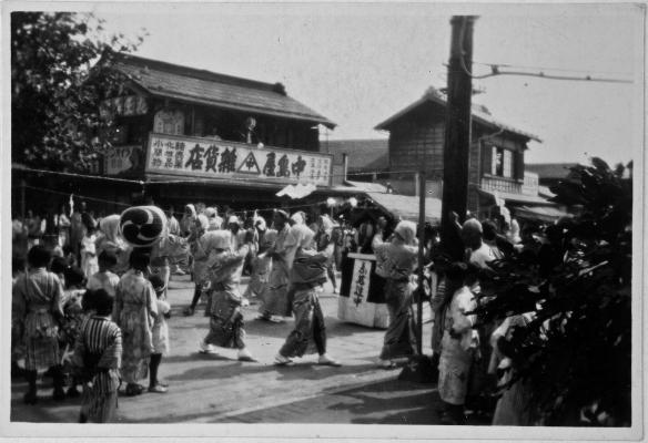 八坂の祭り 昭和初期 佐藤彦五郎新選組資料館提供