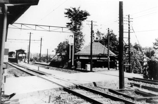 旧日野駅踏切 昭和40年代 日野市郷土資料館提供